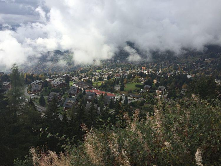 Villarssurollon Villars Architecture Built Structure Cityscape High Angle View Residential Building Outdoors Aerial View Cloud - Sky Switzerland Vaud