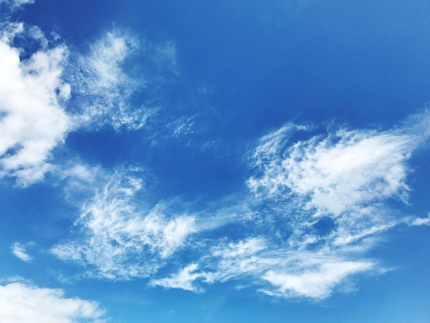 Sky Cloud Clouds Blue Beauty In Nature Backgrounds Nature Low Angle View Sky Only Full Frame Cloud - Sky Scenics No People Day Tranquility Outdoors