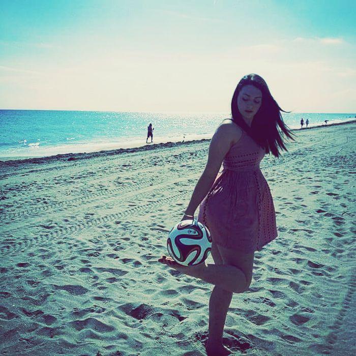 Soccer...^*! ⚽ Girl Beach