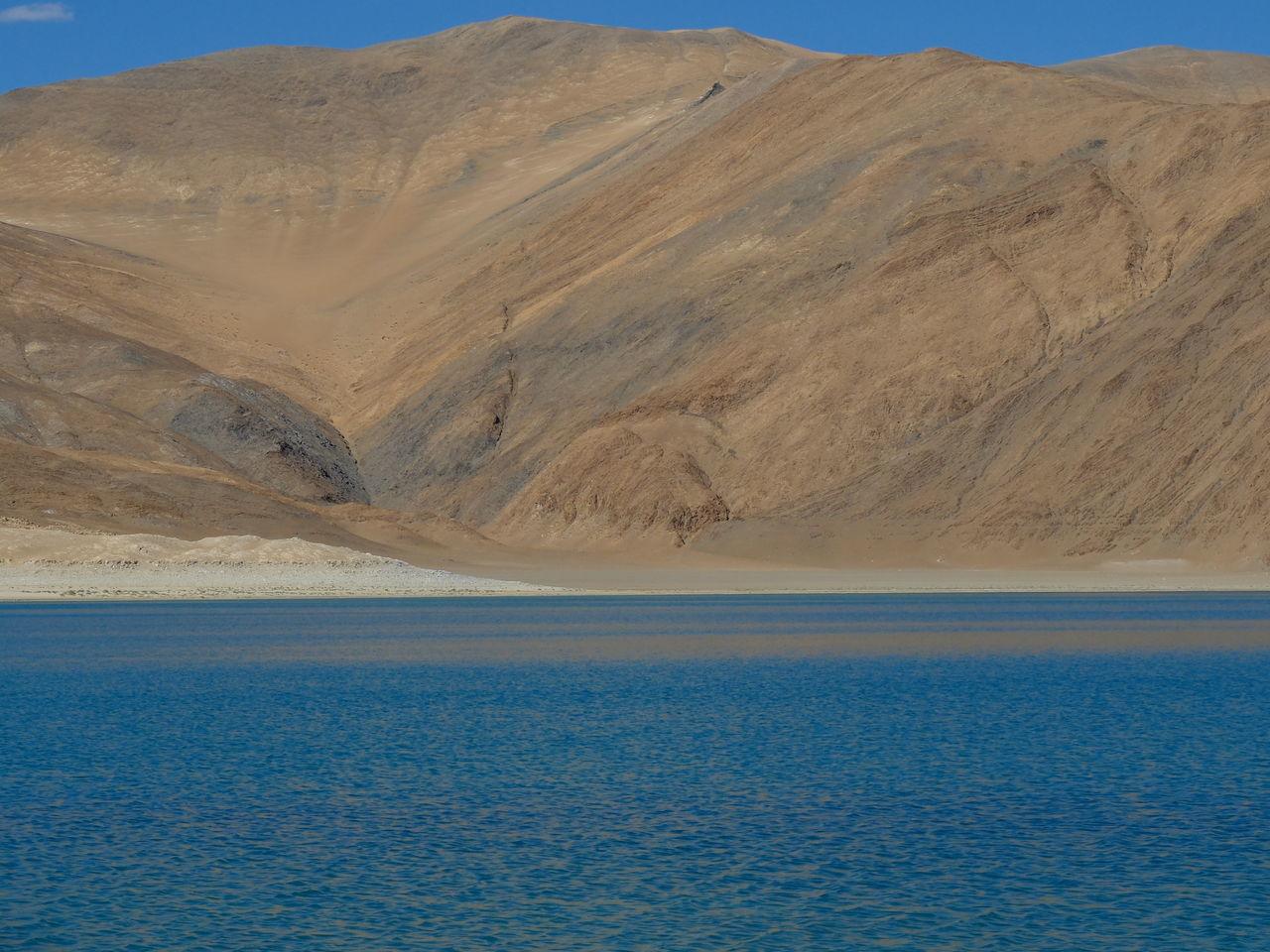Arid Climate Beauty In Nature Day Desert Jammu And Kashmir Leh Ladakh Nature Nature Reserve No People Outdoors Pangong Lake Pangong Tso Sand Sand Dune Scenics Sky Water
