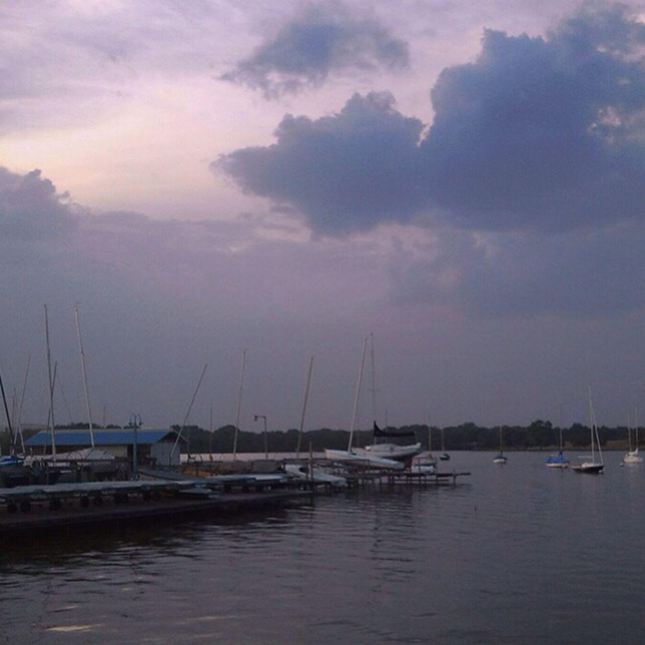 Sunset at White Rock Lake. Sunset Sailboat White Rock Lake