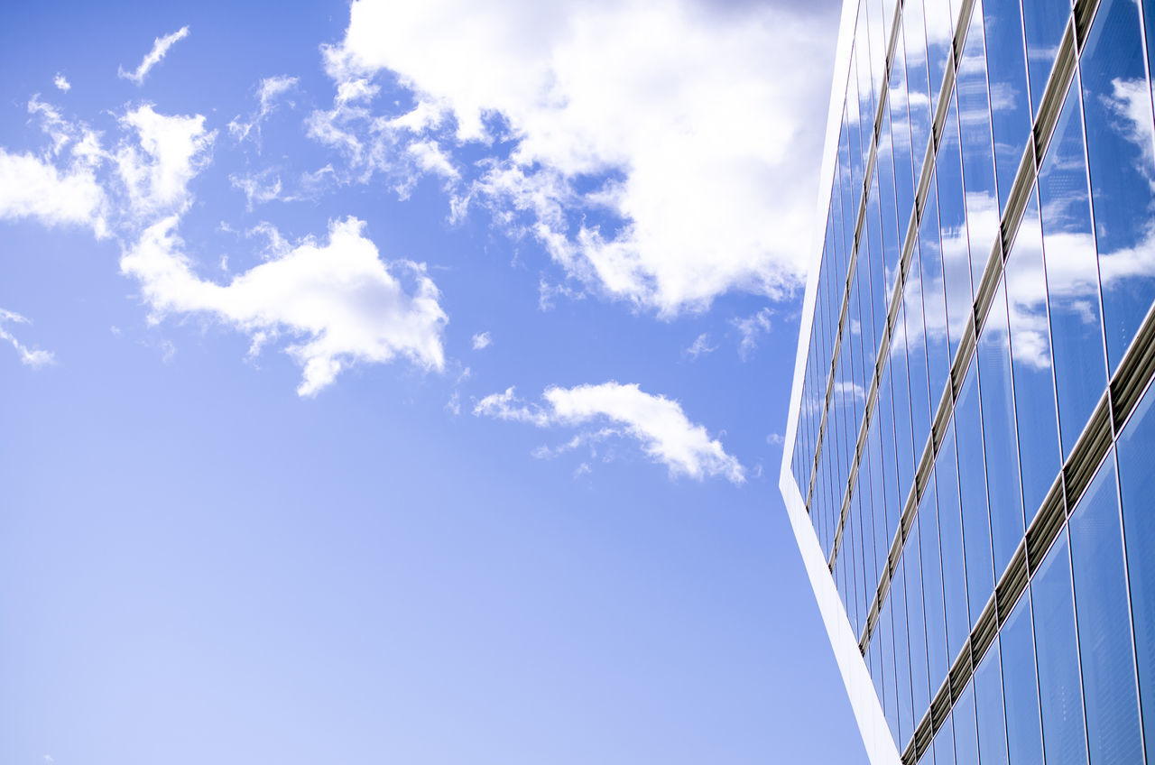 Blue Cloud Cloud - Sky Cloudy Directly Below Dockland Docklands Hamburg Low Angle View Modern No People Outdoors Sky