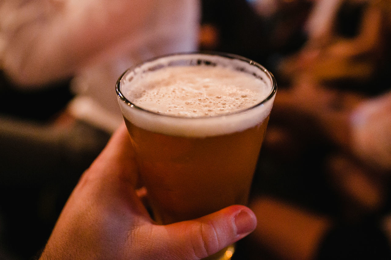 Alcohol Close-up Day Drink Drinking Glass Focus On Foreground Food And Drink Freshness Froth Frothy Drink Holding Human Body Part Human Finger Human Hand Indoors  Leisure Activity Lifestyles One Person People Real People Refreshment Women