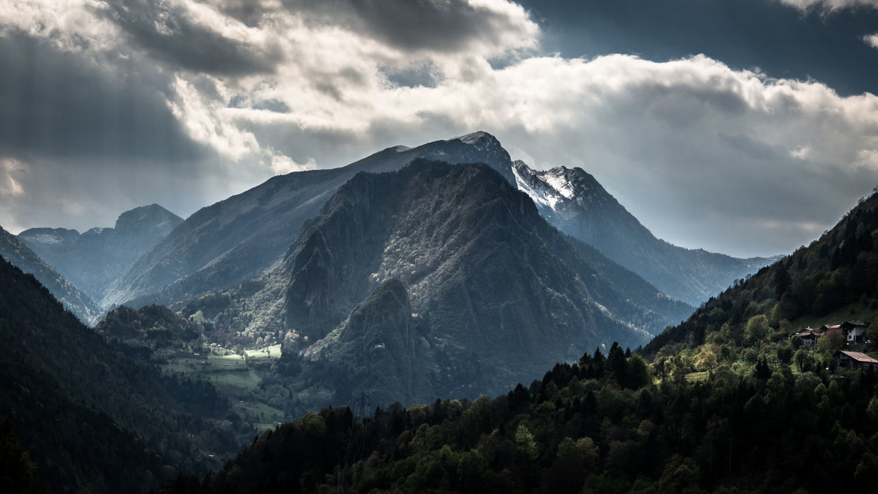 Alpen Alpenpanorama Alps Beauty In Nature Berge Cloudporn Day EyeEm Best Shots EyeEm Nature Lover Italia Italy Landscape Landscapes Mountain Nature Nature No People Outdoors Range Sky Sky And Clouds View Village The Great Outdoors - 2017 EyeEm Awards