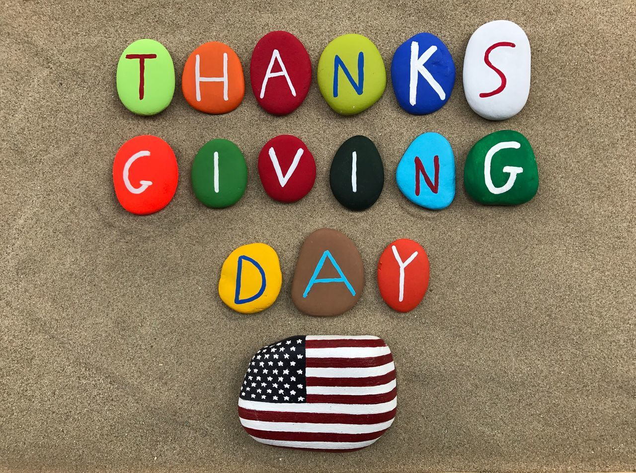 Beautiful stock photos of happy thanksgiving, multi colored, communication, striped, text