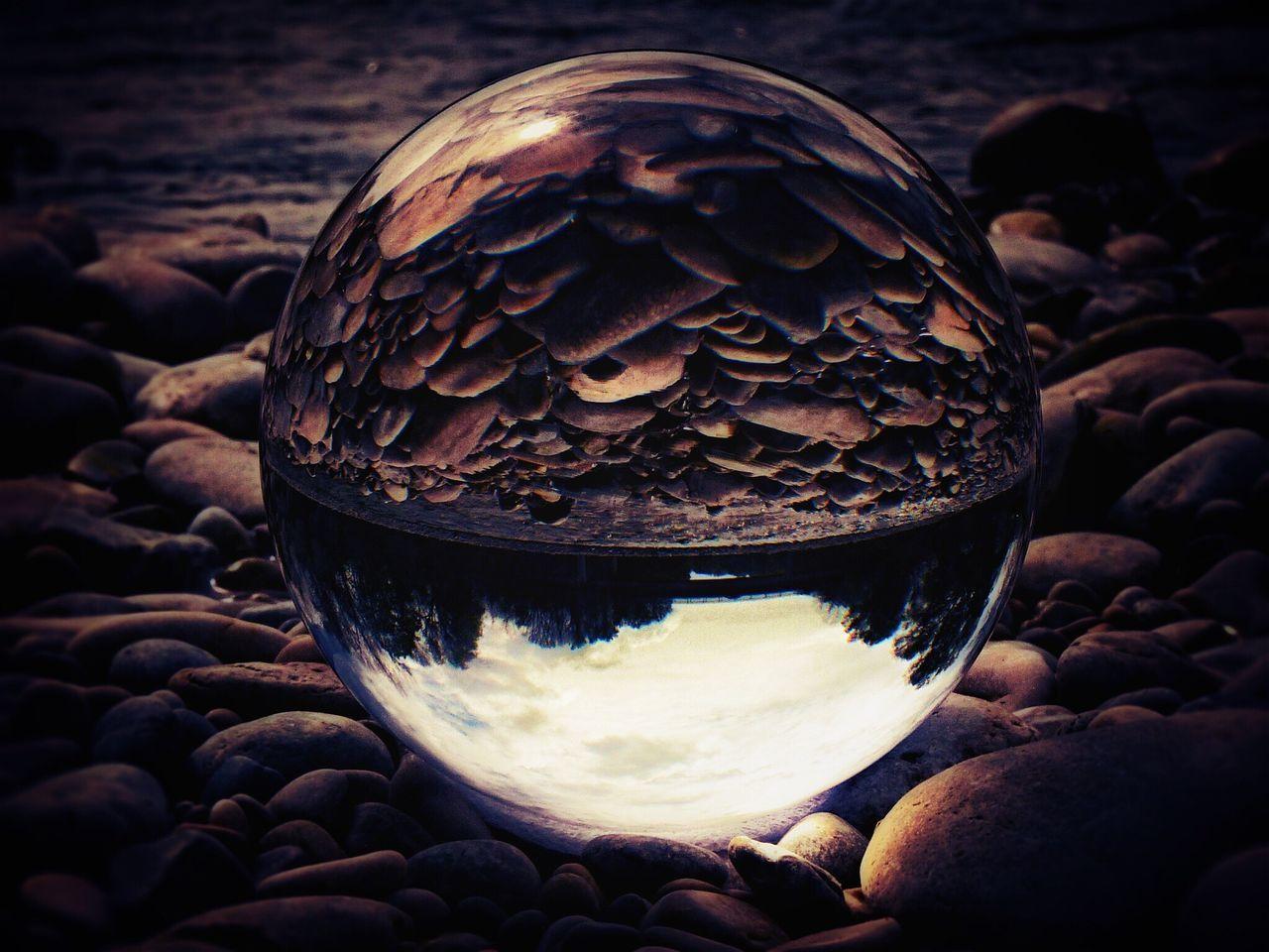 GlasReflection Close-up No People Day Nature Stone Reflections Glasssphere Fotography Glass Art Kreativ