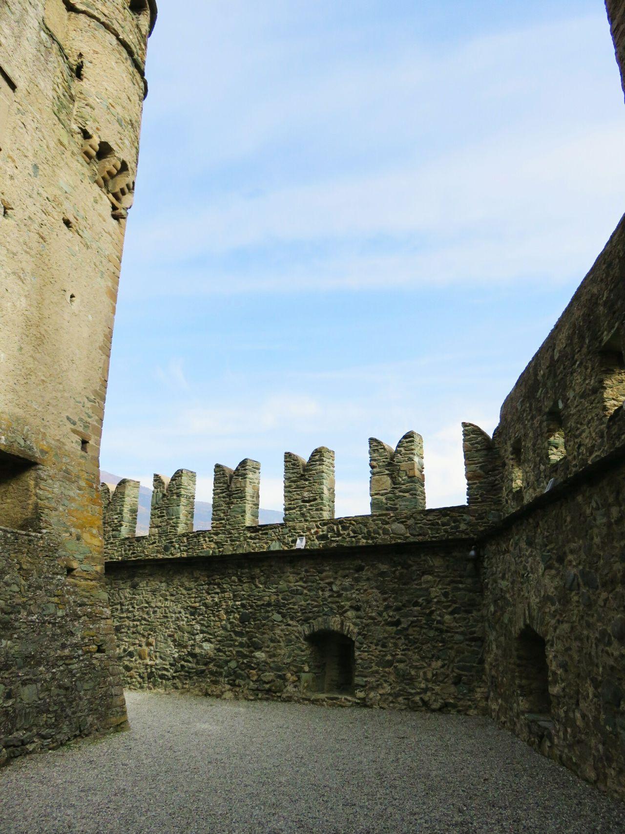 Castello di Fenis History Outdoors No People Sky Day Medieval Tranquil Scene Stone Rocks Aosta Italia Italy Castel
