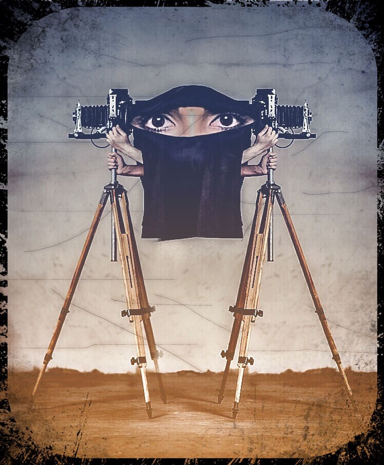 Open Edit Photographic Approximation Facial Experiments La Burka Obscura Surrealism