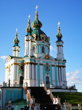 Architecture Religion Travel Destinations Cityscape Cathedral Kyiv,Ukraine Sunny Day 🌞 St.Andrey Cathedral