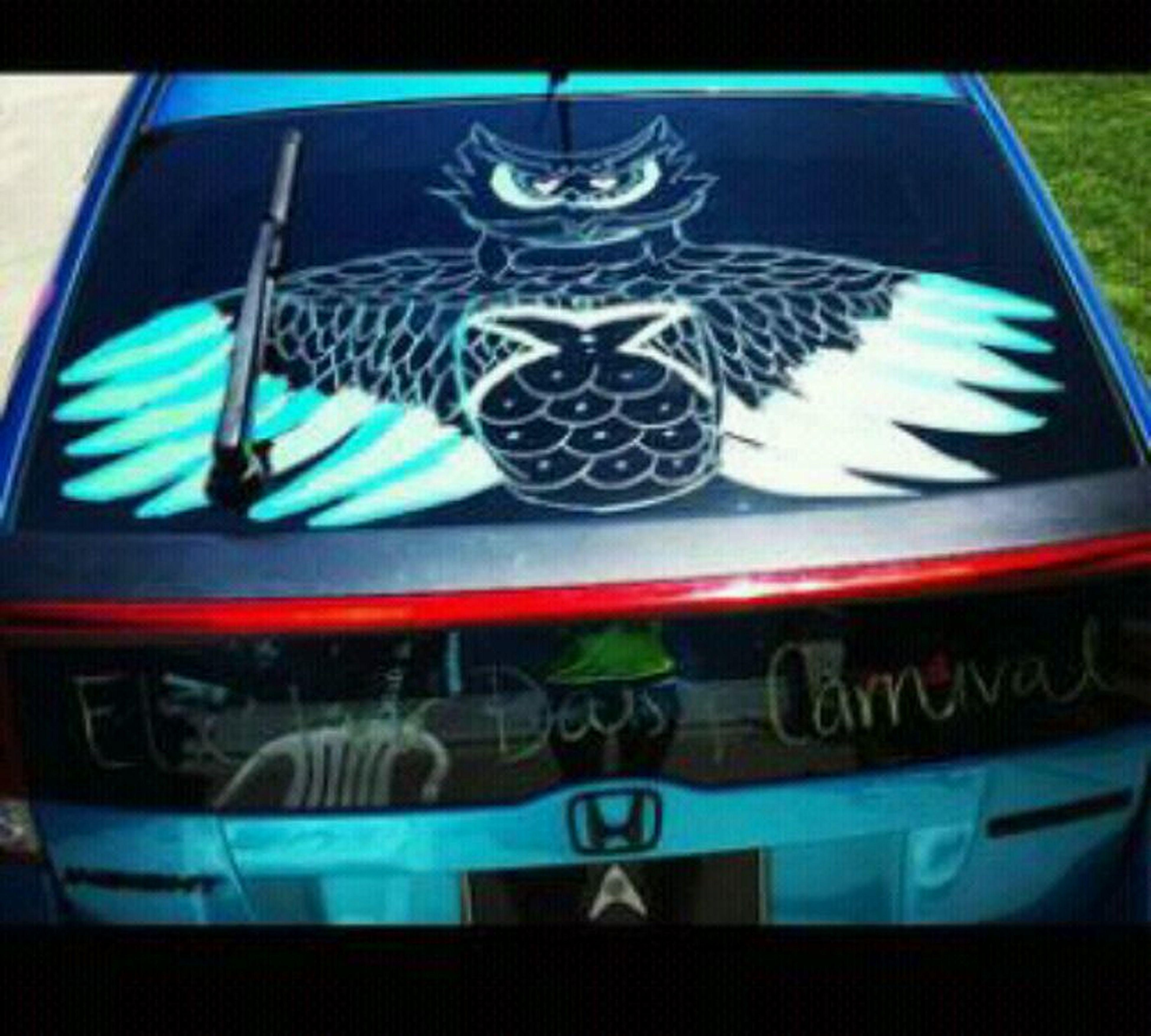 When I drew the Insomniac Owl on the back of my car . ♡ EDC InsomniacOwl Edm Rave Las vegas . ♡