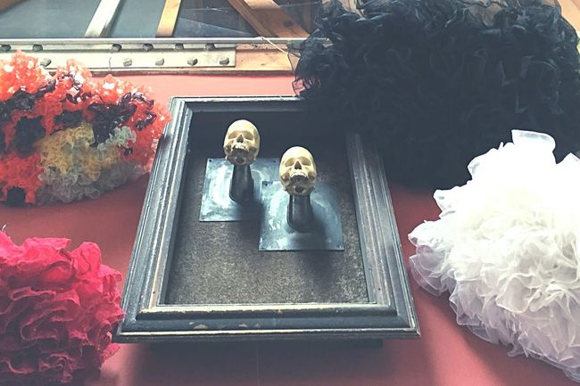 Thrift Shopping Thrift Store Vintage Store Red Hues Wall Art Visual Merchandising Sculpture Skulls Framed Art