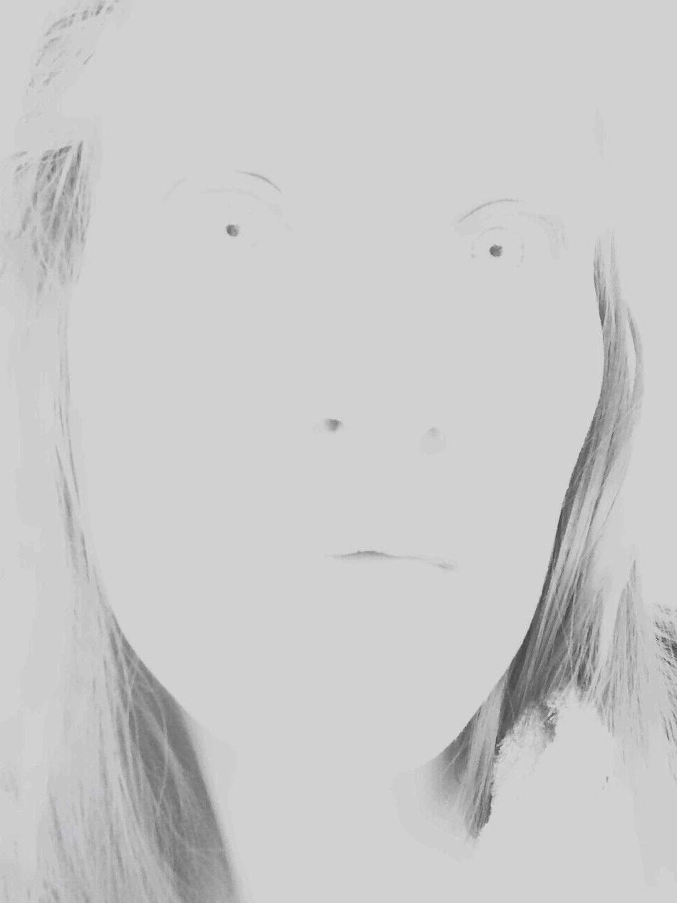 Self Portrait Portrait Female Iphonography Iphoneonly Direct View Grey Creepy Overexposed