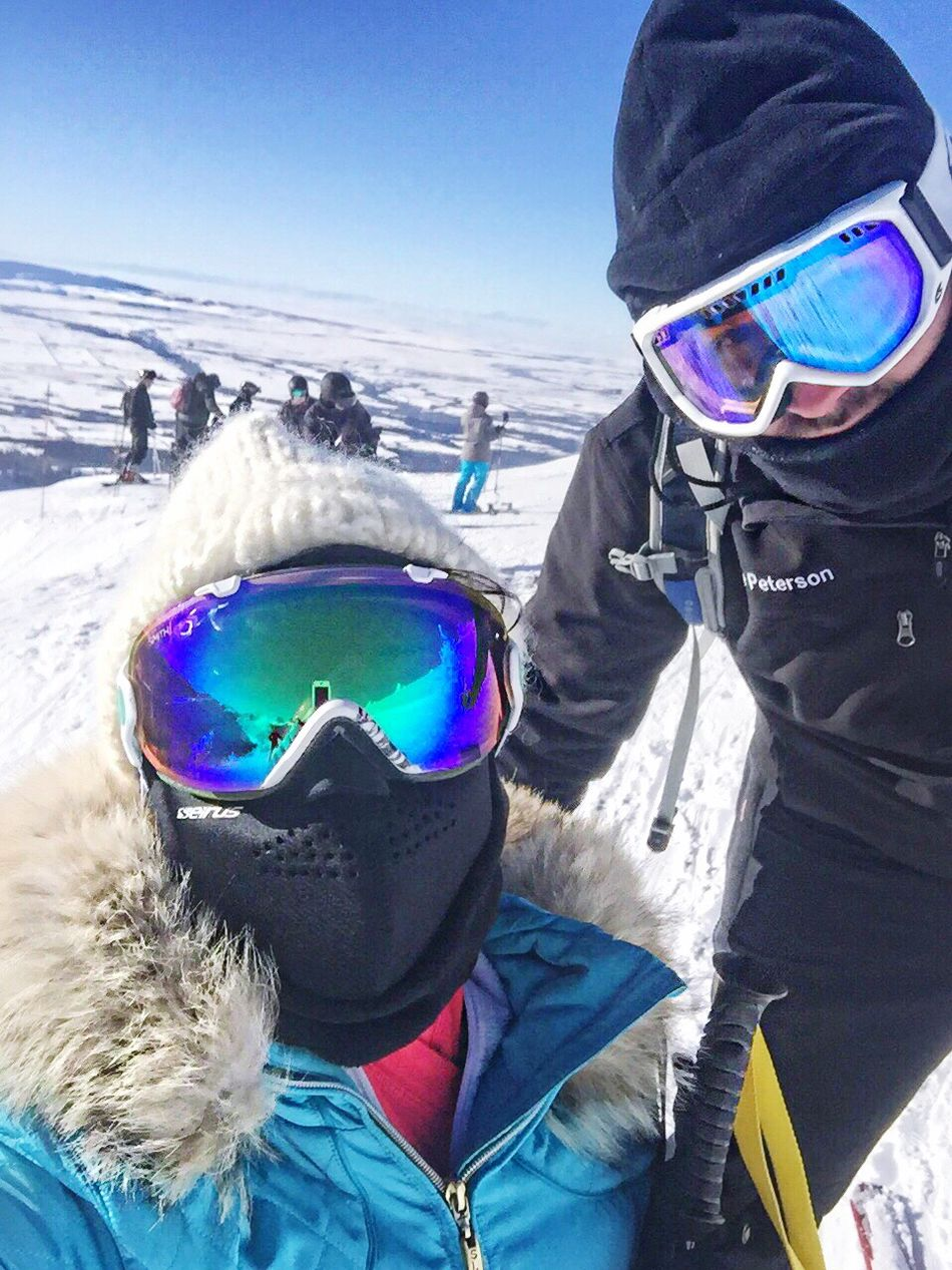Wyoming Adventure Ski Resort  Ski Mask Belowzero Mountains Couple Coupleselfie Lovers Friend Adventure Adventure Buddies Goggles At The Top Skiing Wyoming Landscape Jackson Hole Jacksonholewyoming Winter Sports Bundled Up Bundledup Its Cold Outside Travel Destinations The Great Outdoors - 2016 EyeEm Awards Two People Ski