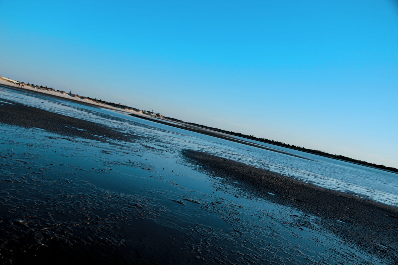water, sea, tranquil scene, nature, clear sky, beauty in nature, scenics, blue, tranquility, outdoors, no people, beach, horizon over water, sky, day