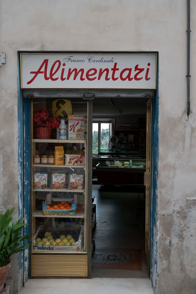 Food shop Architecture Building Exterior Built Structure City Communication Door Façade Food Food Shop Food Shopping Glass - Material Italy Red Store Wall Western Script Window