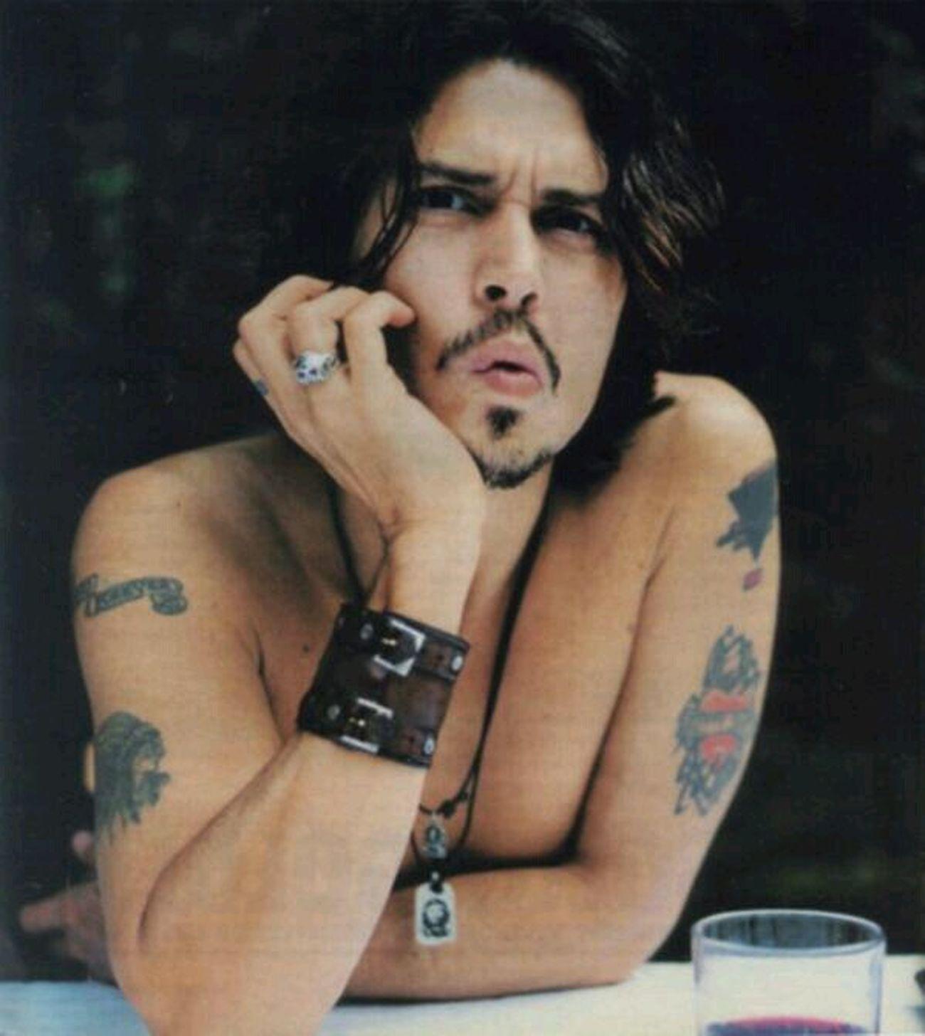 Johnny Depp Tattos Beauty Love