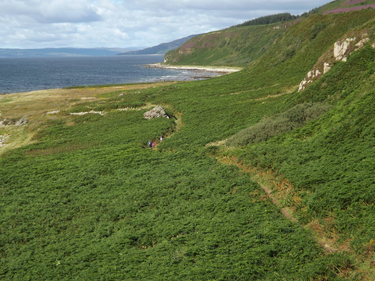 Adventure Beauty In Nature Cultures Day Green Hiking Isle Of Arran  Landscape Mountain One Person Outdoors Scotland Sea Trail Trip Walking Path