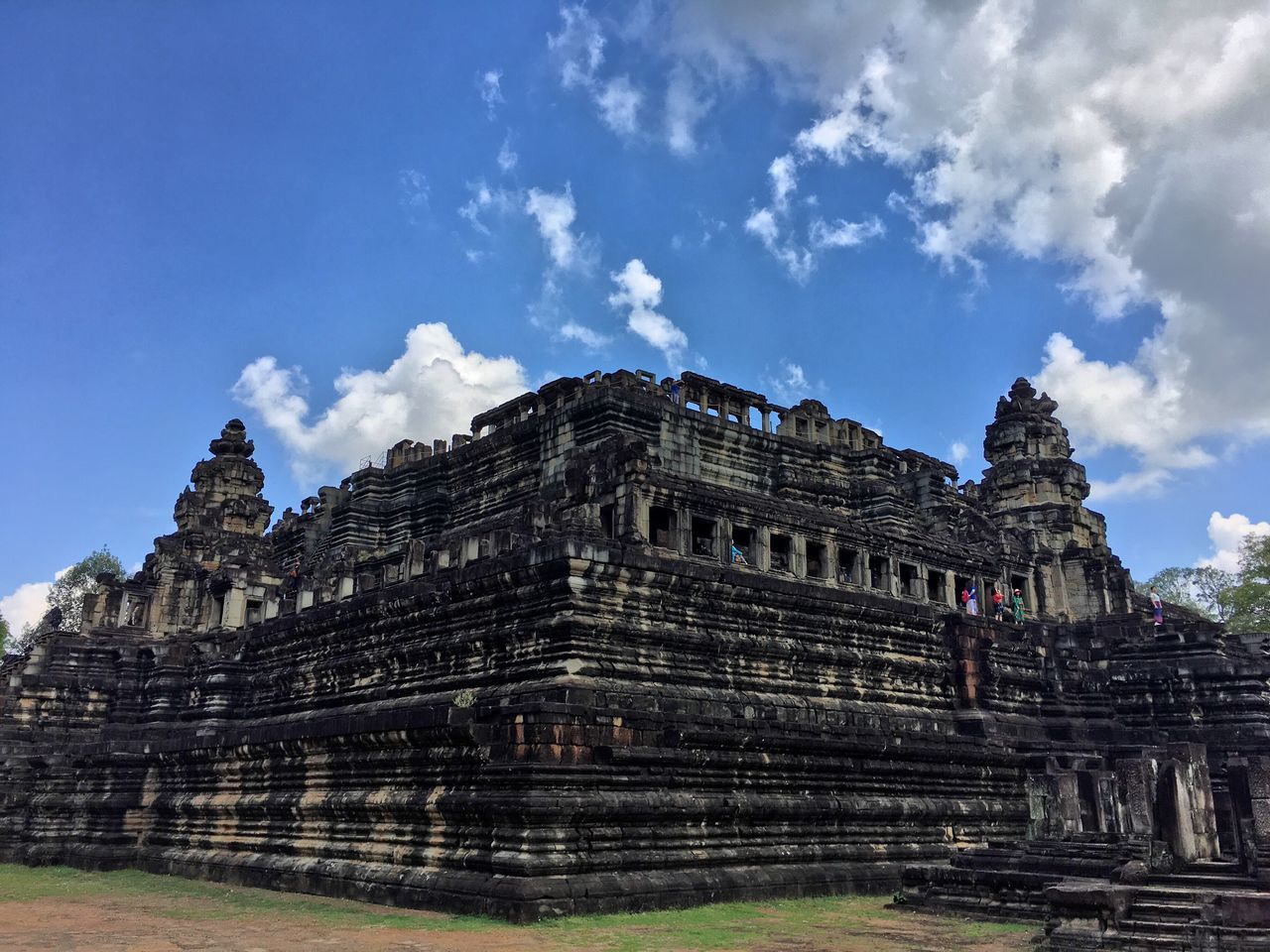 Angkor Thom History Architecture Ancient Civilization Spirituality Built Structure Sky Old Ruin Place Of Worship Religion Archaeology Building Exterior The Past Travel Destinations Cloud - Sky Ancient Travel Tourism Day Pyramid Low Angle View Angkor Thom Cambodia
