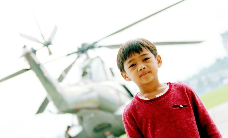 EyeEm Selects Child Children Only Childhood One Person Red People Day Headshot Boys One Boy Only Outdoors Portrait Sky Close-up Junior High Adult Puma Helicopter MySON♥ Ezzra