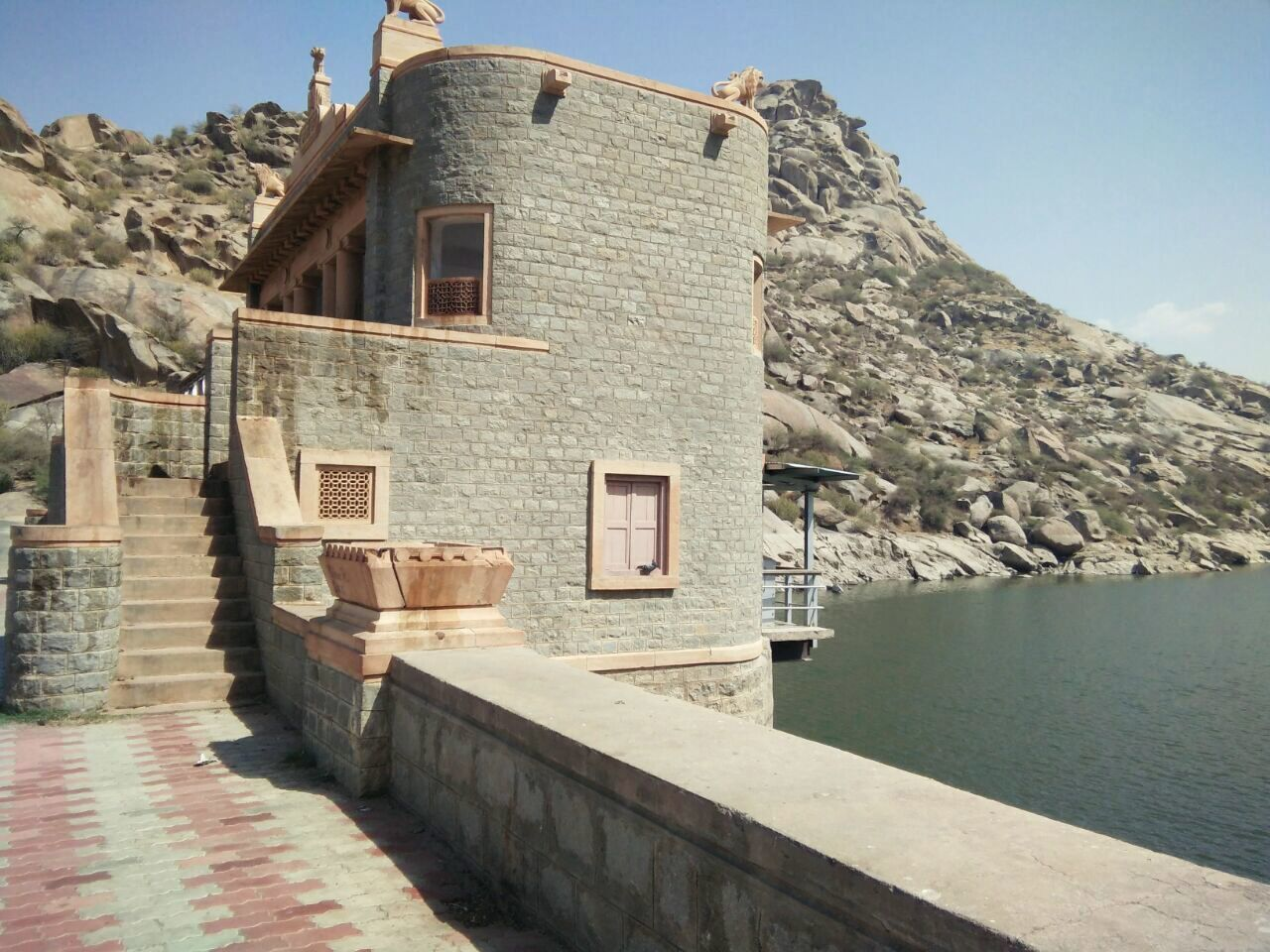 A Tiny House Built On A Dam At Jawai Architecture Water Clear Sky Mountain No People Day Outdoors Sky The Secret Spaces