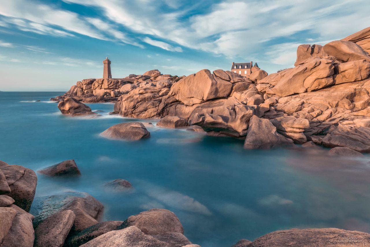 Men Ruz Lighthouse Poselongue Seascape Seaside Sea And Sky Bretagne Bretagnetourisme Canonphotography Ploumanac'h Landscape_Collection Mikejonasphotography Bzh Granite France