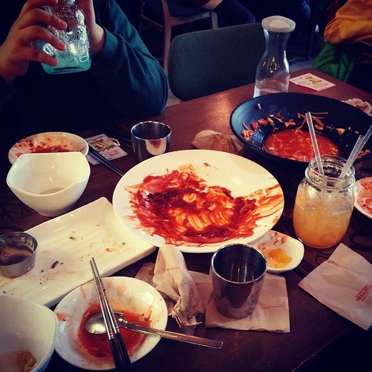 잘먹었읍니다 스쿨푸드 Schoolfood 학교 떡볶이 퓨전분식 koreafood foodstagram 먹스타그램 맛스타그램 먹방 빈접시