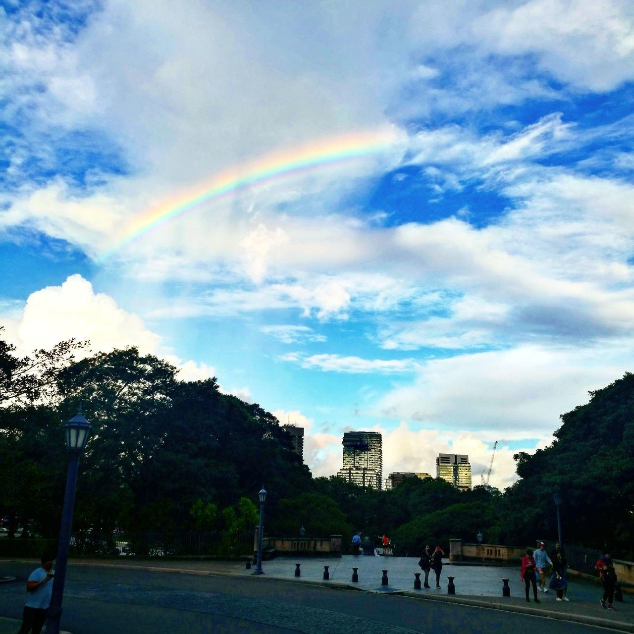Rainbow🌈 Cloud - Sky Rainbow Beauty In Nature God Is The Greatest Artist. Nature Photography