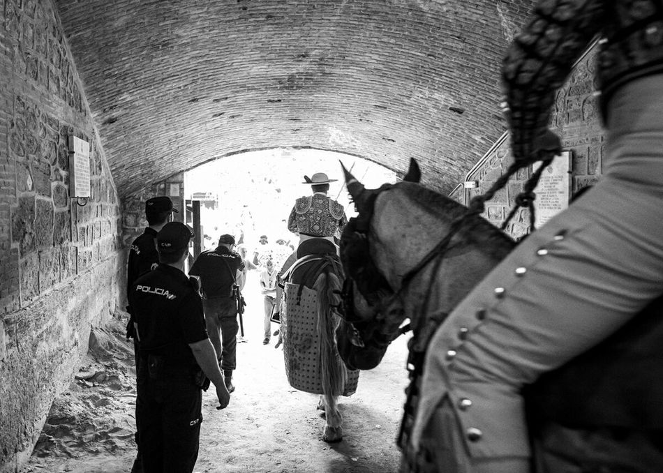 Picador Caballo Horse Toreo  Bullfighting Paseillo Policia Police Plaza De Toros Bullring B&w Showcase: December
