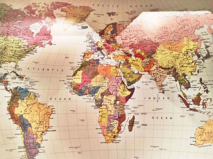 World World Heritage Place Of Worship Map World Map Multi Colored