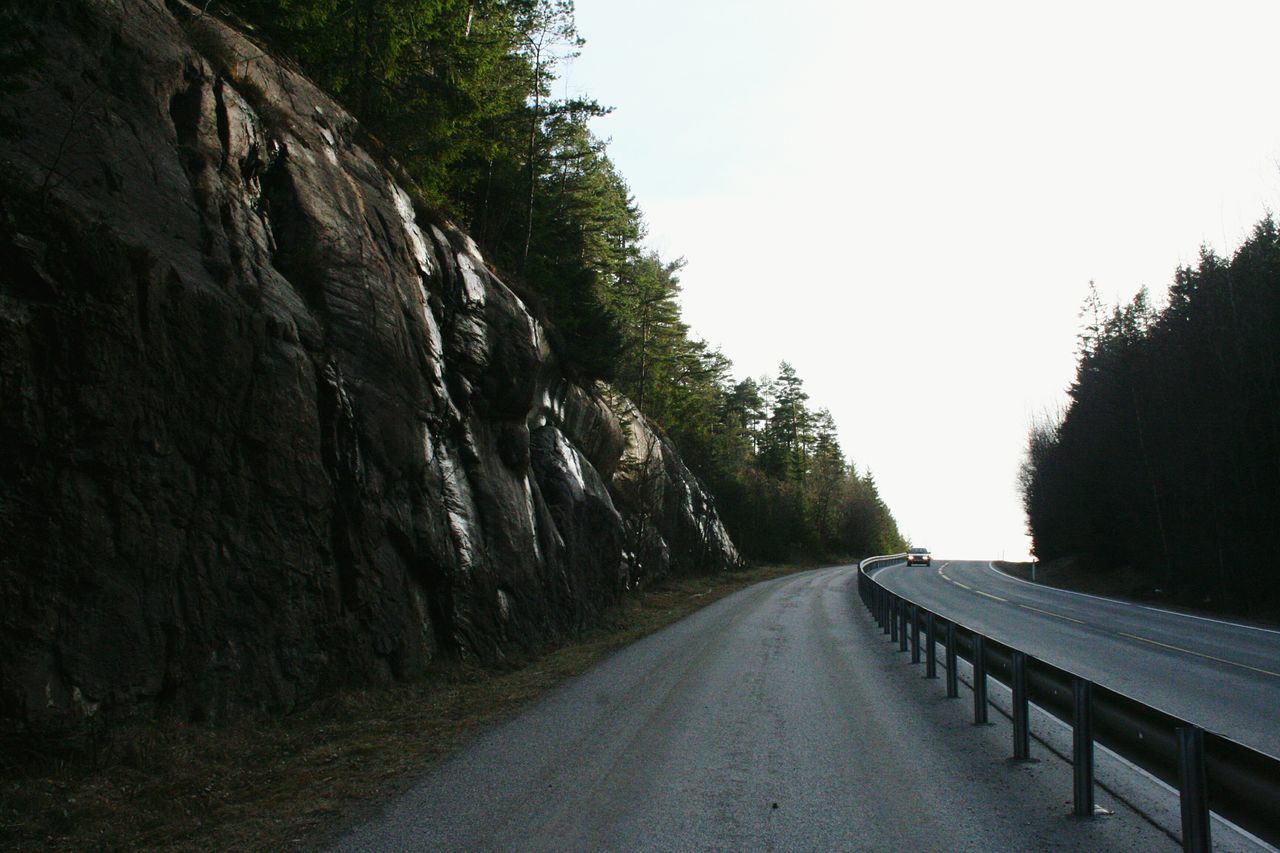 Tree Road The Way Forward Day Asphalt Growth No People Nature Outdoors Sky Beauty In Nature Norge Norway Way Nature Halden, Norway