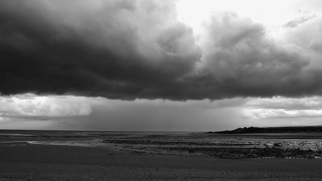 Beach Beautiful Nature Beauty In Nature Black & White Cloud - Sky Darkness And Beauty Darkness And Light EyeEm Best Shots EyeEm Gallery Idyllic Ireland🍀 My Place To Relax My Planet Is Beautiful My Side Nature No People Shadows & Lights Soul Storm Cloud Strong Shadow Tranquility
