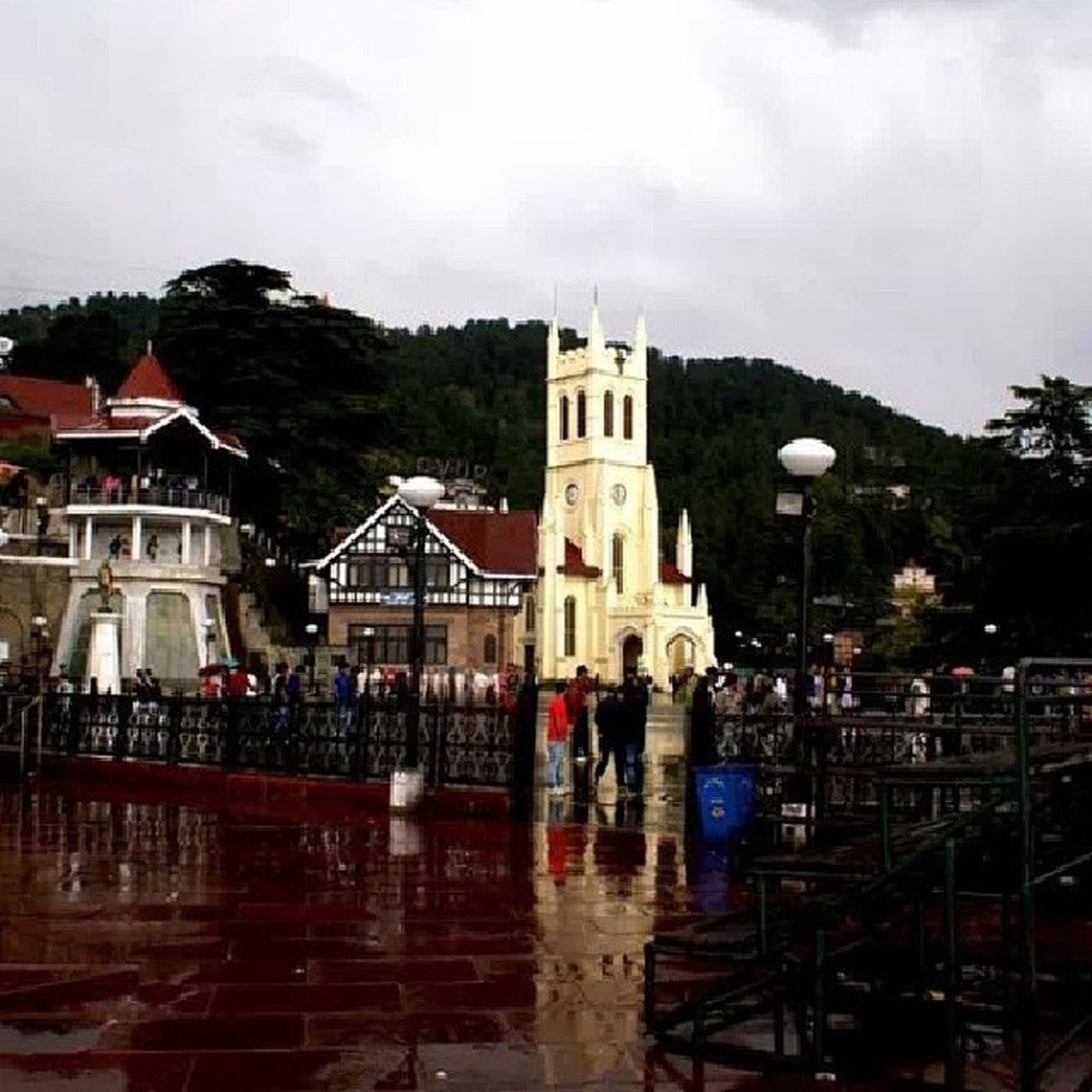Shimla Rain Theridge Church Scandalpoint Townleave Schooltym memories 2012