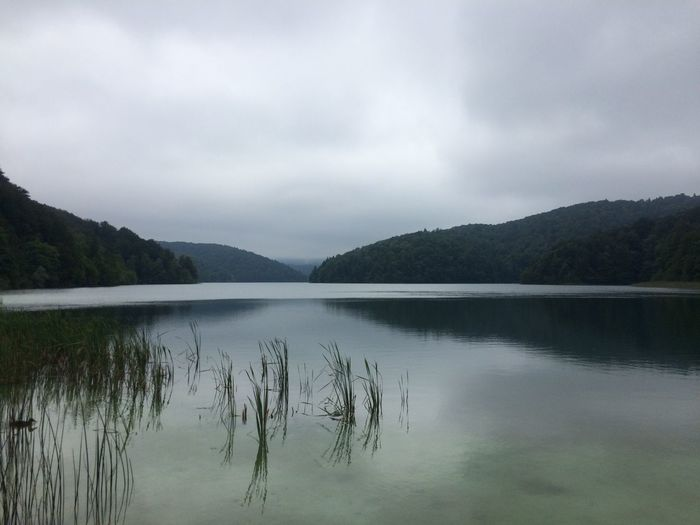 Beauty In Nature Distant Horizontal Symmetry Lake Lakeshore Majestic Nature Outdoors Plitvice National Park Reflection Remote River Riverbank Scenics Standing Water Symmetry Tranquil Scene Tranquility Tree Water Waterfront