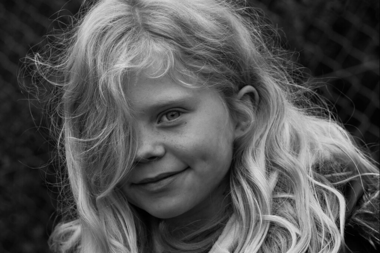 Beautiful Blackandwhite Portrait My Daughter Pour Traits