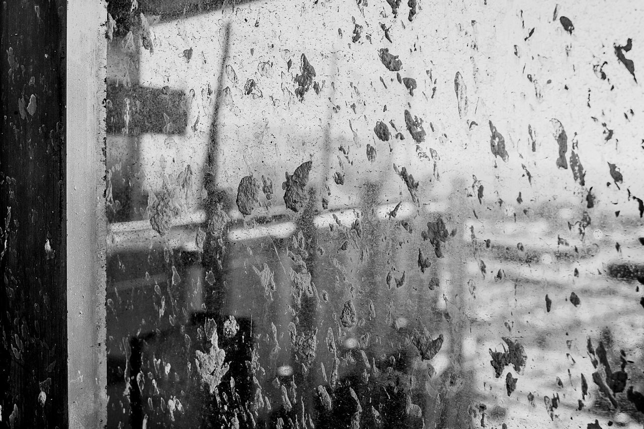 Detail Shot Of Dirty Window