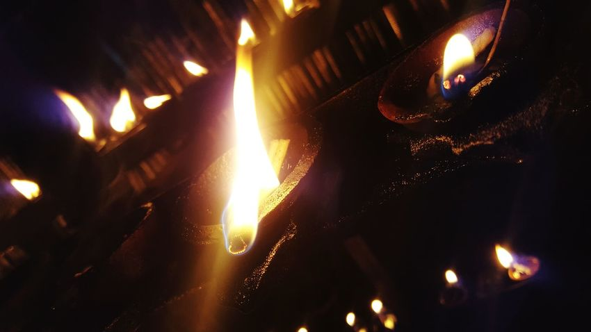 Flame Heat - Temperature Diwali Close-up