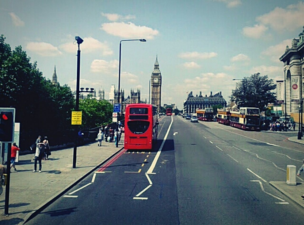 London Red Bus Big Ben Summer 2013 Strange Asphalt LINE