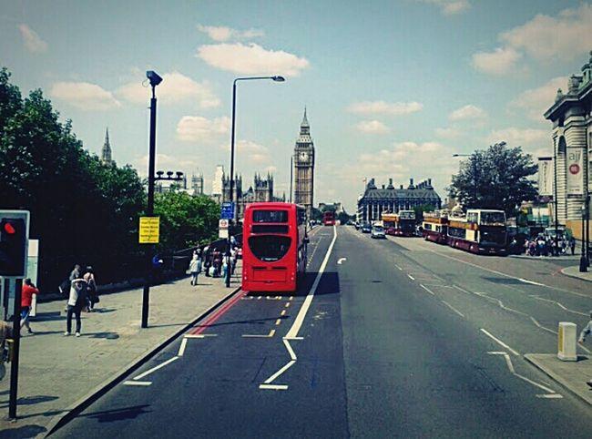 London Red Bus Big Ben Summer 2013 Strange Asphalt LINE