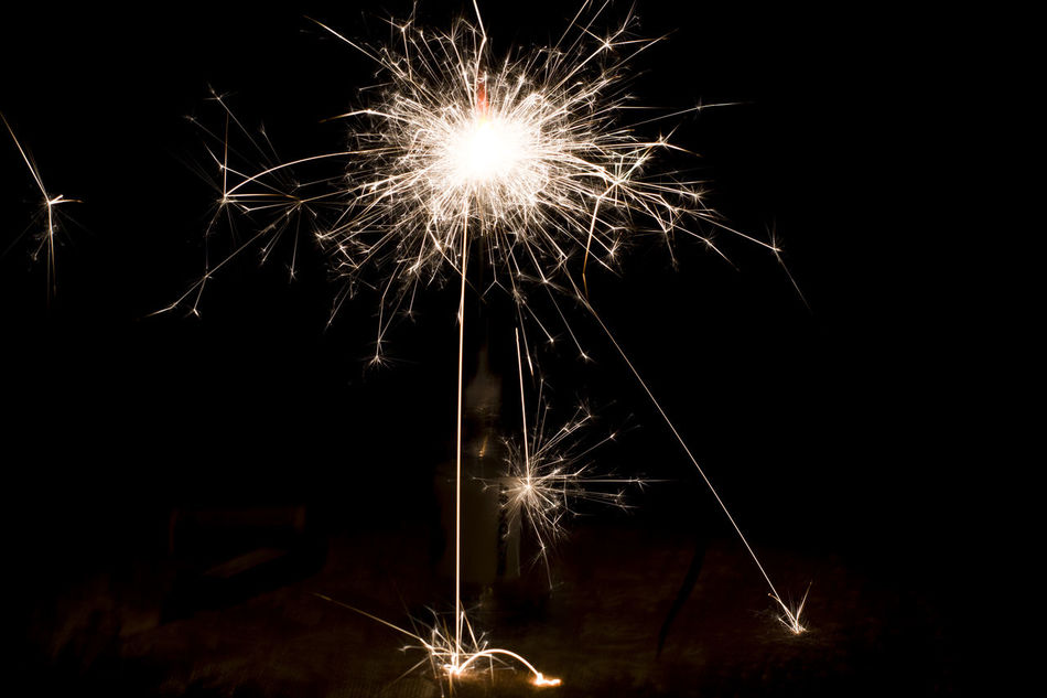 Bengal Fire Bengal Lights Black Celebration Darkness And Light Event Exploding Fire Firework Firework - Man Made Object Firework Display Fireworks Happy New Year Illuminated Light Long Exposure Motion New Year Night No People Outdoors Sky Sparkler Sparklers Sparks