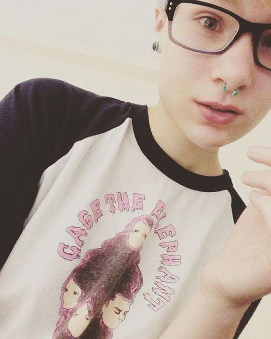 Swelling has gone down, but I still can't move my face. Own Pain Wisdomteeth Cutiepie Cute Cagetheelephant Glasses Septum Piercing Fun Yay Selfie Cutie Me Whoa Gauges Bigglasses Randyjacksonglasses Yup