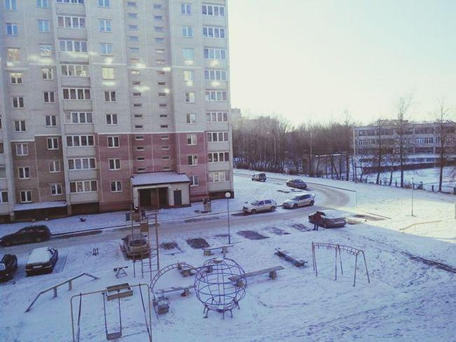 Наконец выпал снежон:з