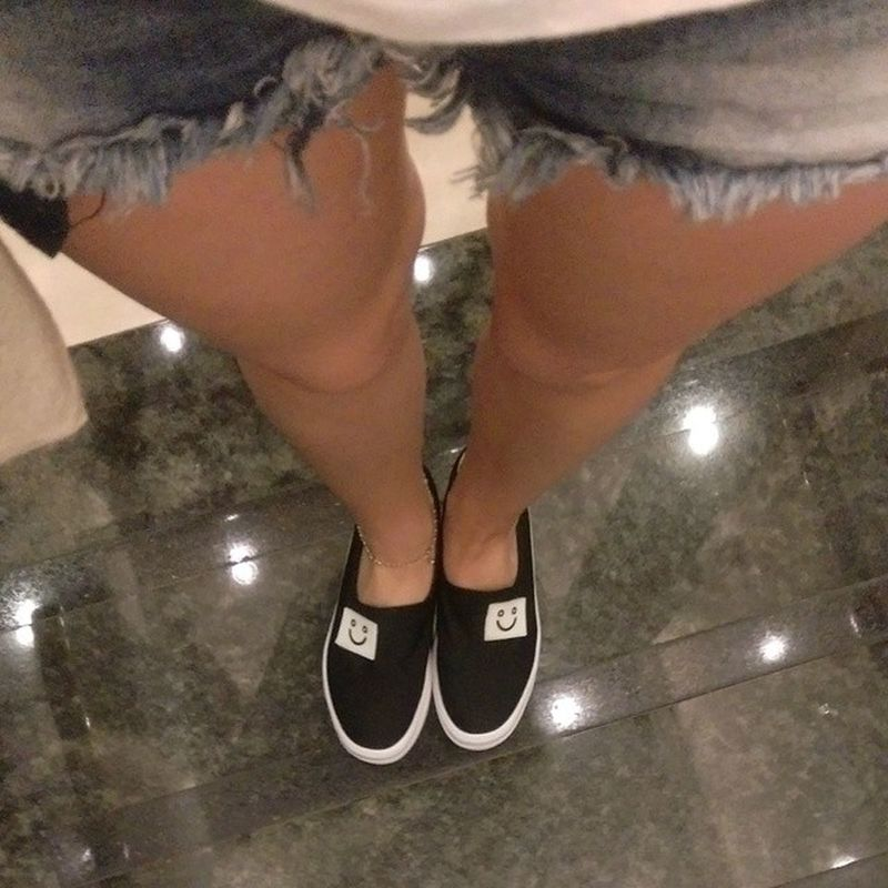 Loving my Smilyshoes Slipons Shoes Yesstyleasia also, I take your Thighgap and raise you a Calfgap and Kneegap Notskinnyjustbowlegged Bandylegs Bowlegs Sillylegs
