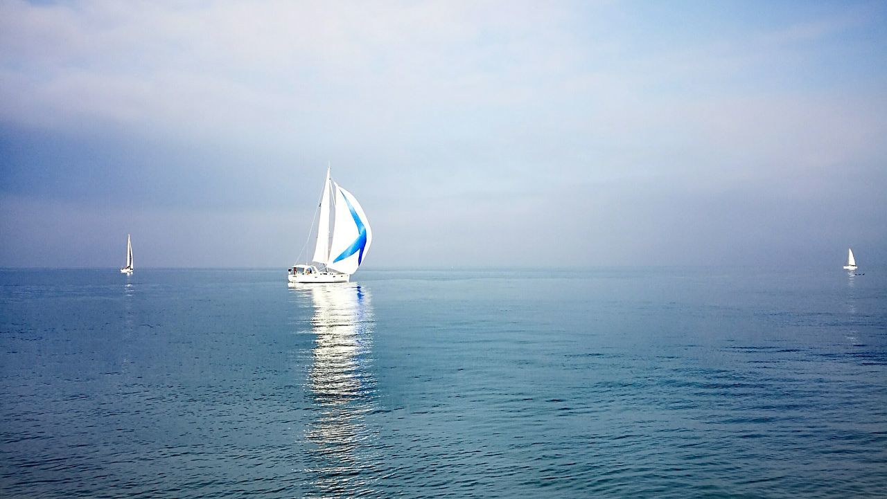 Pesaro Sea Nautical Vessel Sailing Water Sailboat Transportation Reflection Day Outdoors Aquatic Sport Vacations Tranquil Scene Sailing Ship Horizon Over Water Sport No People Sky Yachting Yacht Nature