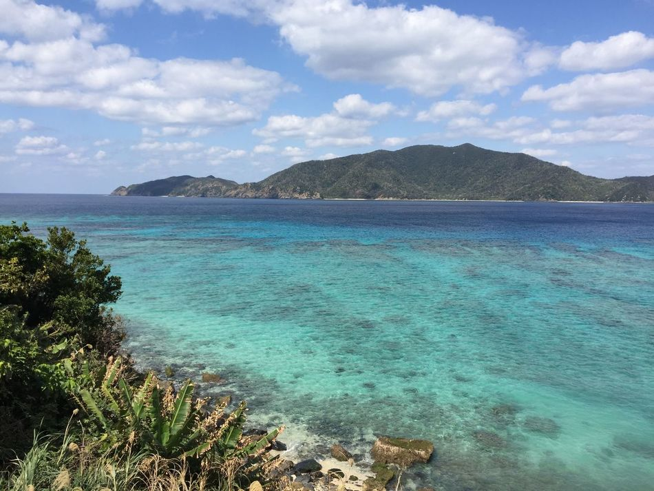 Sea Water Beach Beauty In Nature Nature Scenics Tranquility No People Sky Tranquil Scene Outdoors Day Tree Horizon Over Water Mountain Amami Island