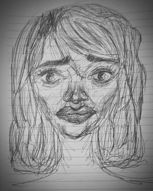 just doodling Drawing Girl Sad Bnw B&w First Eyeem Photo