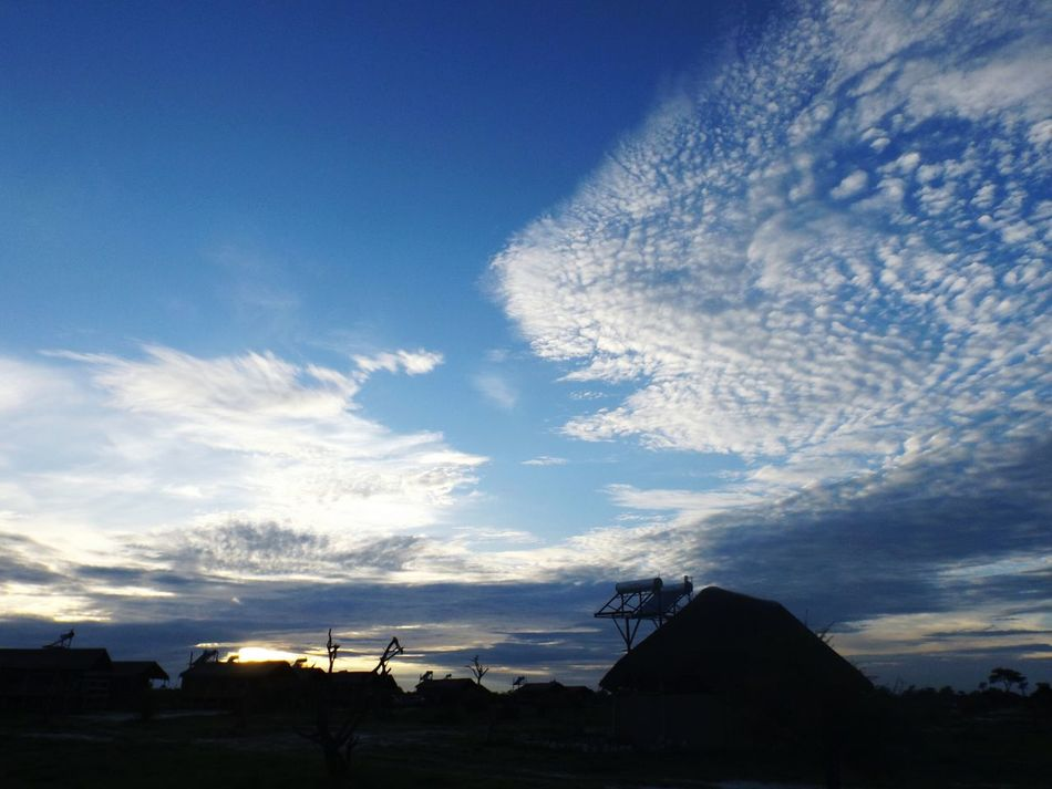 Botswana Africa Beautiful Beauty In Nature Elephant Sands Campsite Sky Clouds Nature_perfection Nature Outdoors The Wild
