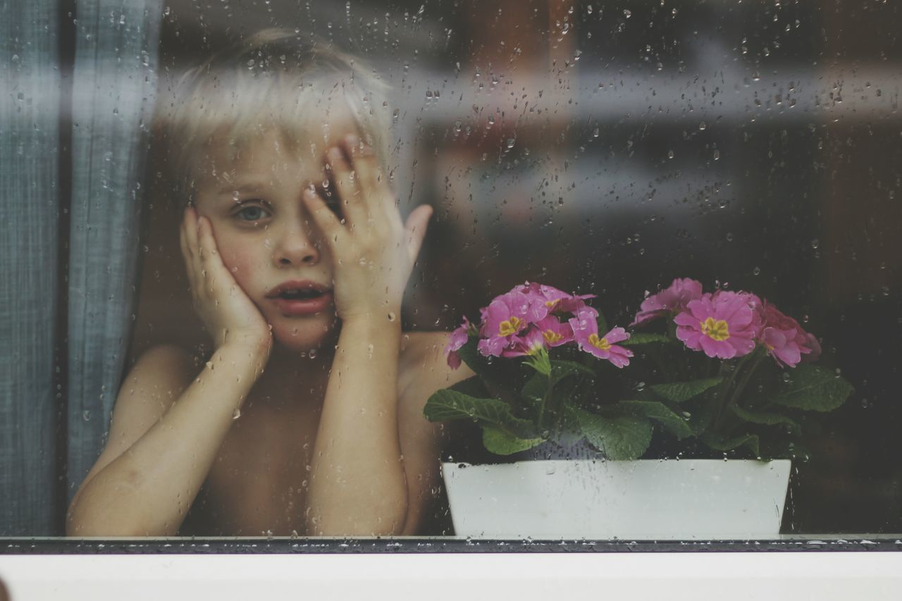 Beautiful stock photos of rain, Blonde Hair, Childhood, Children Only, Day