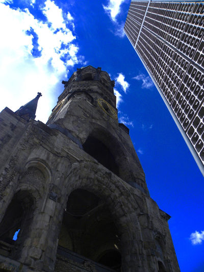 Berlin Architecture Blue Blue Sky Building Exterior Built Structure Cloud - Sky Concrete Jungle Day History Low Angle View No People Outdoors Sky Skycraper Spirituality Window