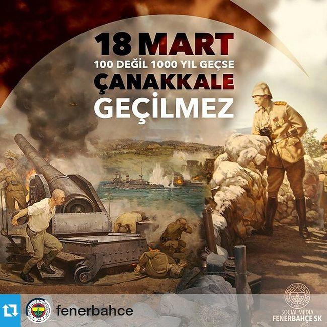 Repost @fenerbahce ・・・ 100 Değil 1000 Yıl Geçse Çanakkale Geçilmez! Fenerbahce  18Mart InstaFB