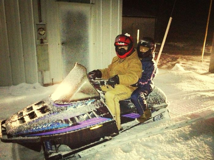 1st Snowmobile Ride